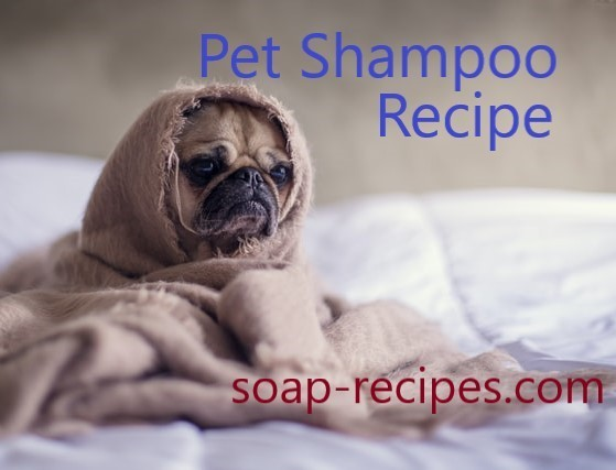 Free pet shampoo bar recipe